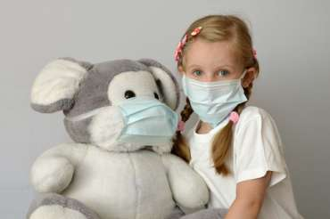 Same Day Sick Care Girl Sick With Her Teddy Bear